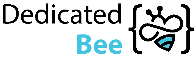 Dedicated Bee Footer Logo